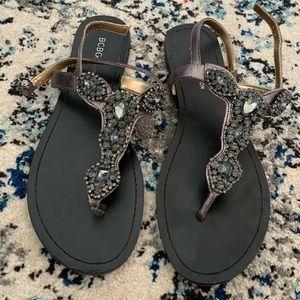BCBG sandals worn once
